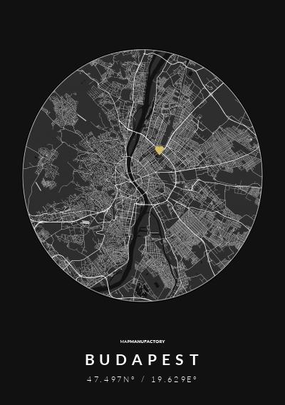 BUDAPEST - 47.497N° / 19.629E° poszter