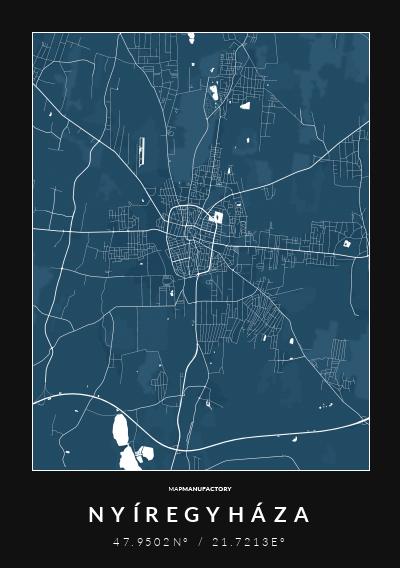 NYÍREGYHÁZA - 47.9502N° / 21.7213E° poszter