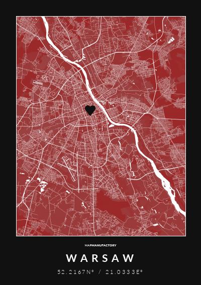 WARSAW - 52.2167N° / 21.0333E° poszter