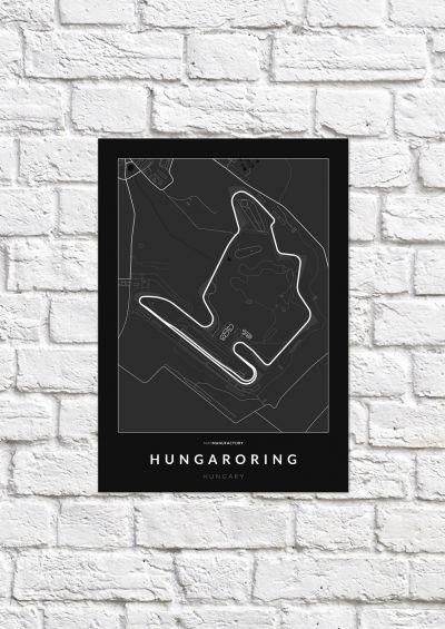 Hungaroring versenypálya poszteren - sötét-1