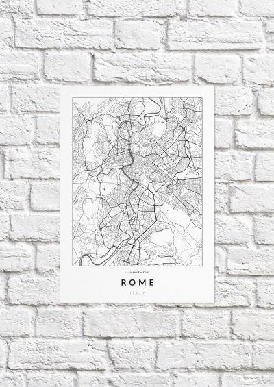 Róma úthálózata poszteren - világos-1