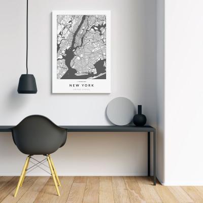 New York úthálózata vászonképen - világos-1