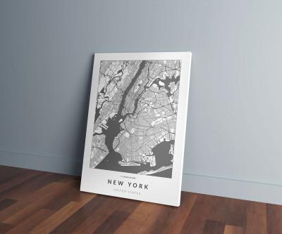 New York úthálózata vászonképen - világos