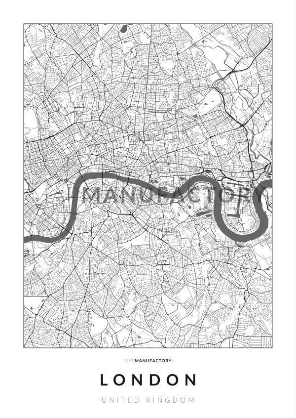 London úthálózata poszteren - világos
