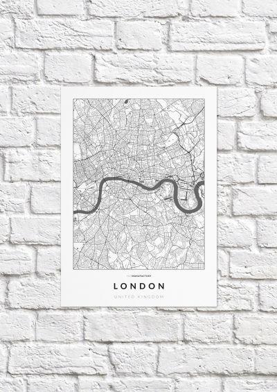 London úthálózata poszteren - világos-1