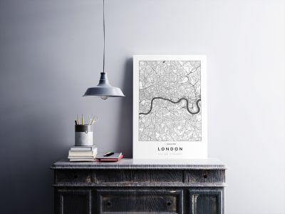 London úthálózata poszteren - világos-2