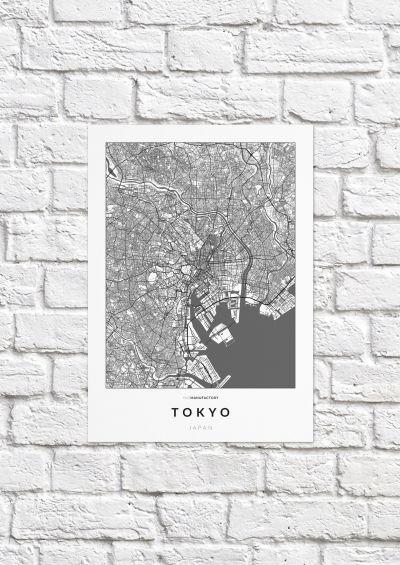 Tokió úthálózata poszteren - világos-1