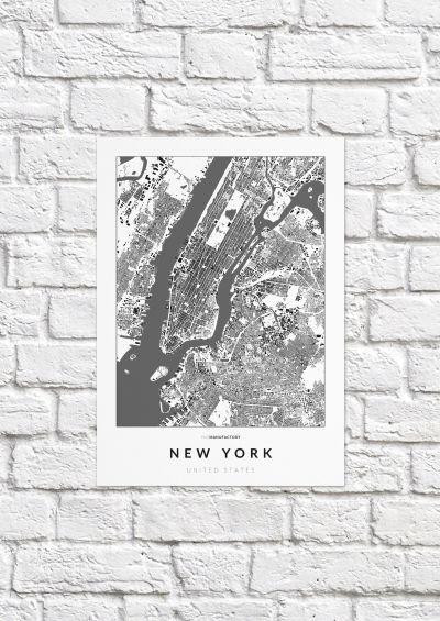 New York épületei poszteren - világos-1