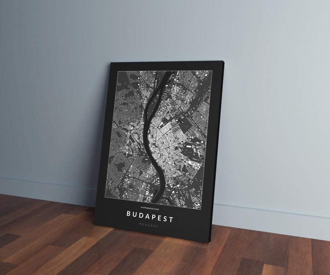 Budapest épületei vászonképen - sötét