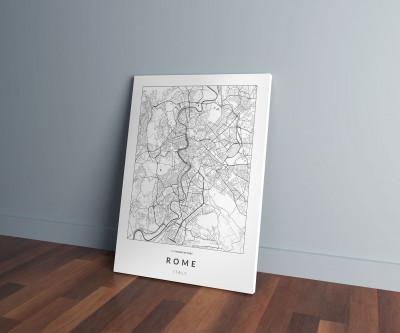 Róma úthálózata vászonképen - világos