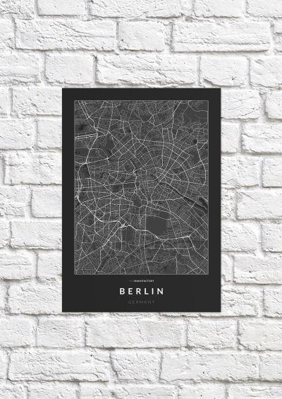 Berlin úthálózata poszteren - sötét-1