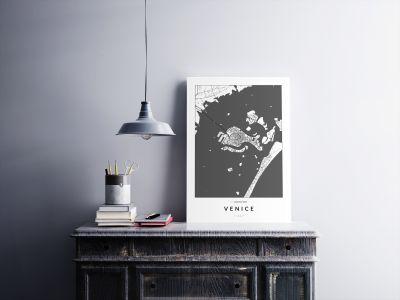 Velence úthálózata poszteren - világos-2