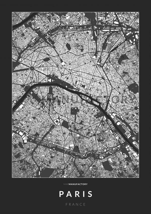Párizs épületei poszteren - sötét