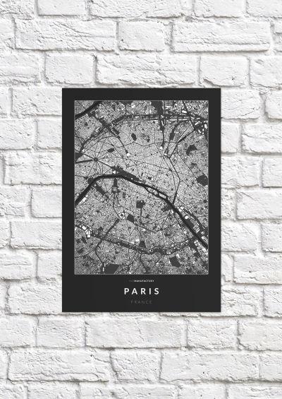 Párizs épületei poszteren - sötét-1
