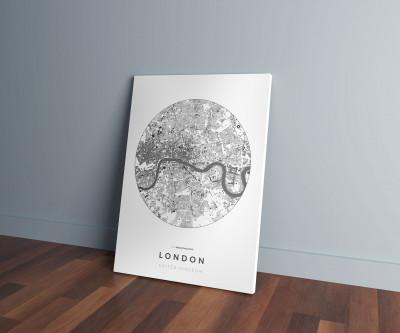 London épületei körben vászonképen - világos