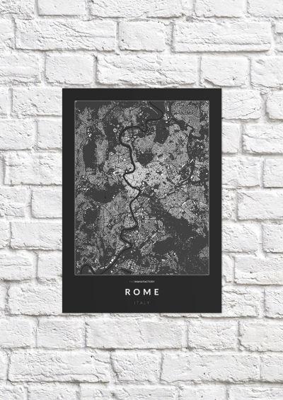 Róma épületei poszteren - sötét-1