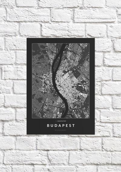 Budapest épületei poszteren - sötét-1