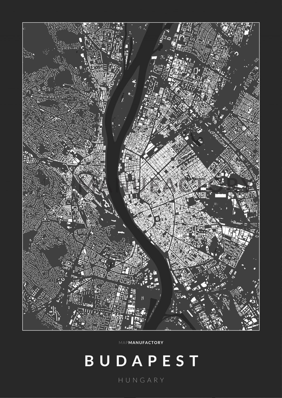 Budapest épületei poszteren - sötét