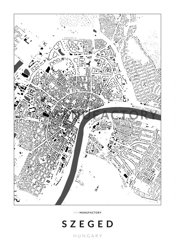 Szeged épületei poszteren - világos