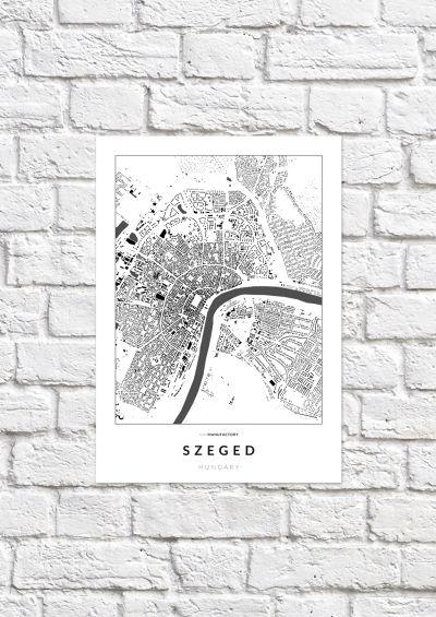 Szeged épületei poszteren - világos-1
