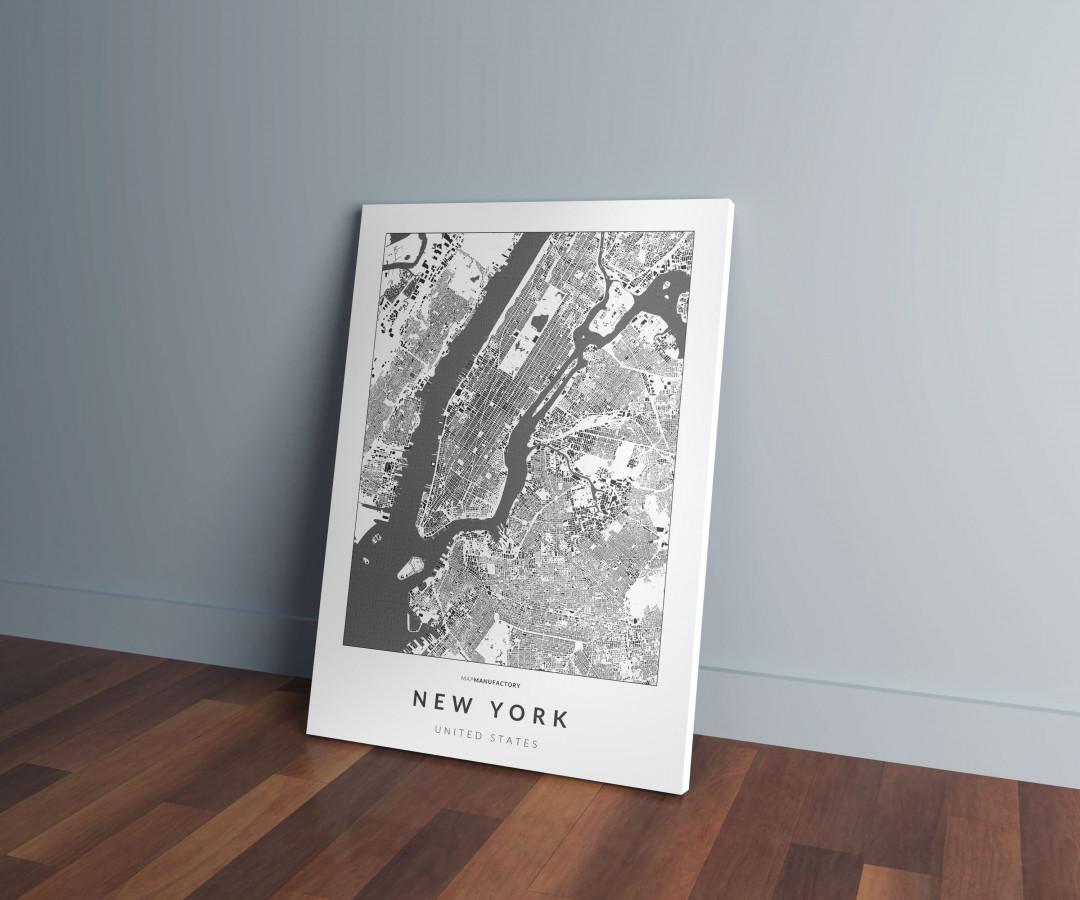 New York épületei vászonképen - világos