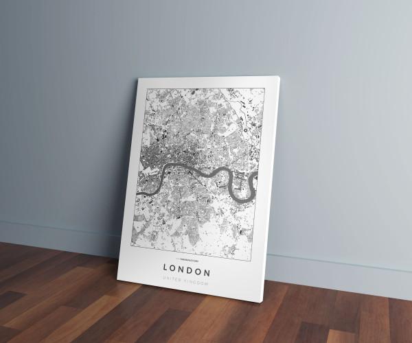 London épületei vászonképen - világos