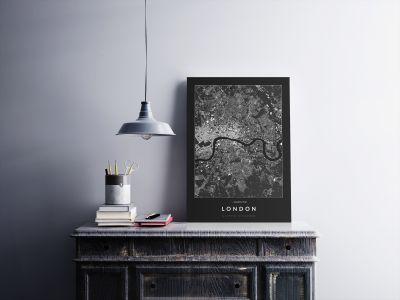London épületei poszteren - sötét-2
