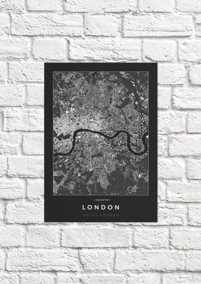 London épületei poszteren - sötét-1