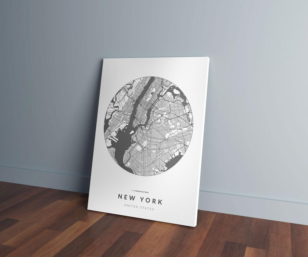 New York úthálózata körben vászonképen - világos