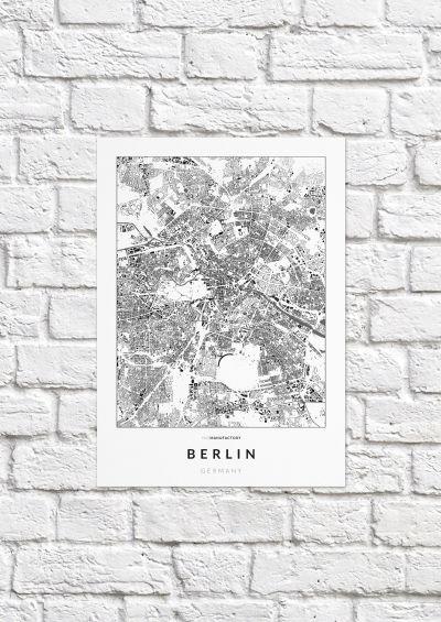 Berlin épületei poszteren - világos-1