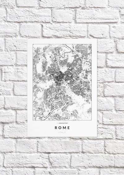 Róma épületei poszteren - világos-1