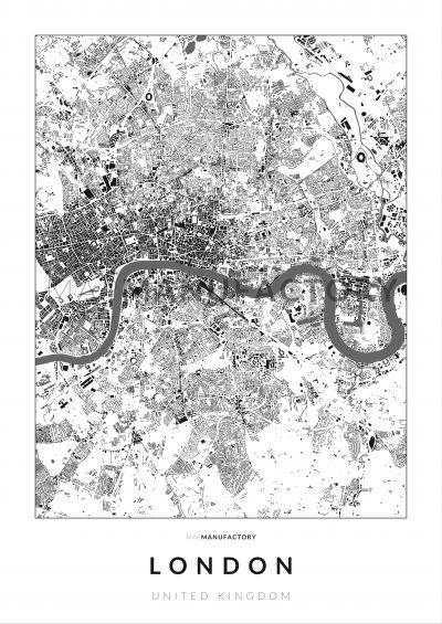 London épületei poszteren - világos