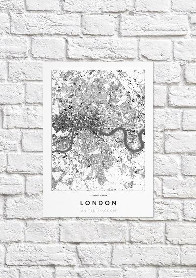 London épületei poszteren - világos-1