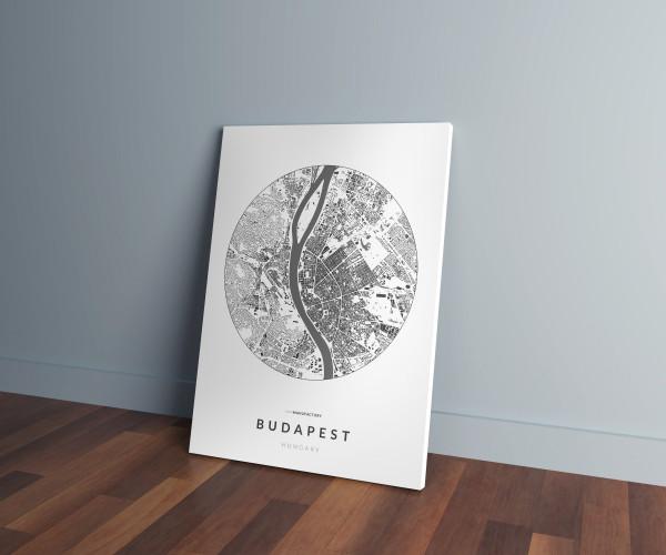 Budapest épületei körben vászonképen - világos