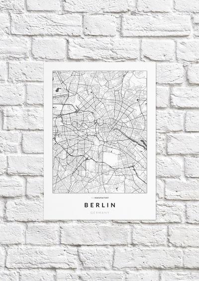 Berlin úthálózata poszteren - világos-1