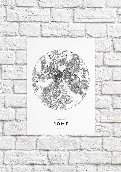 Róma épületei körben poszteren - világos-1