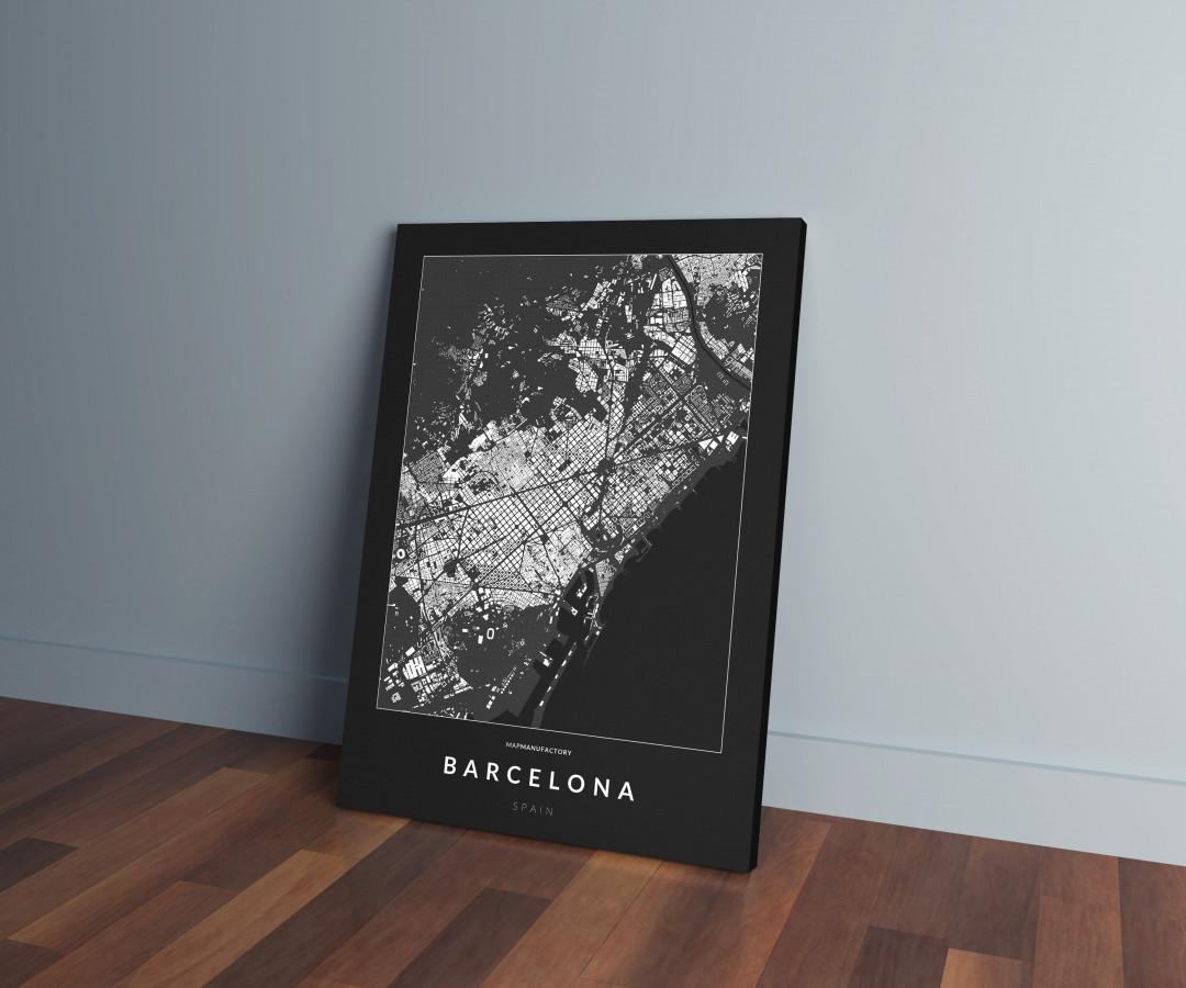 Barcelona épületei vászonképen - sötét