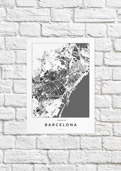 Barcelona épületei poszteren - világos-1