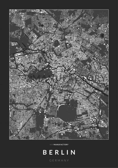 Berlin épületei poszteren - sötét
