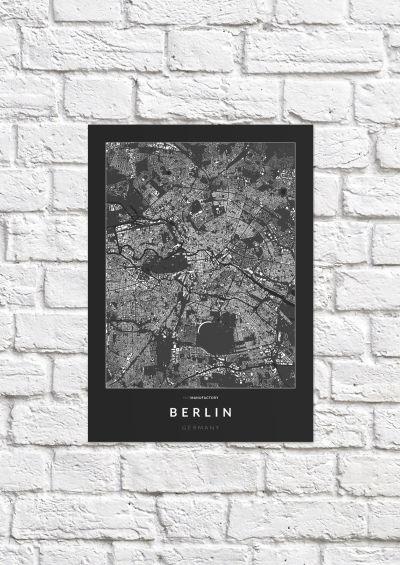 Berlin épületei poszteren - sötét-1