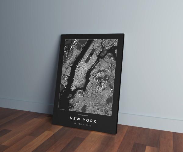 New York épületei vászonképen - sötét