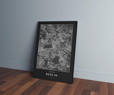 Berlin épületei vászonképen - sötét