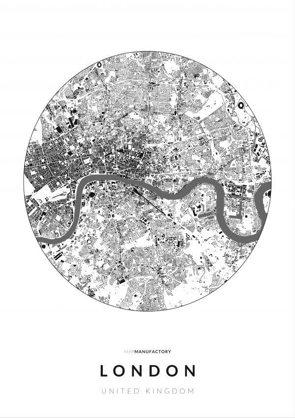London épületei körben poszteren - világos