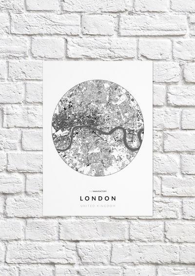 London épületei körben poszteren - világos-1