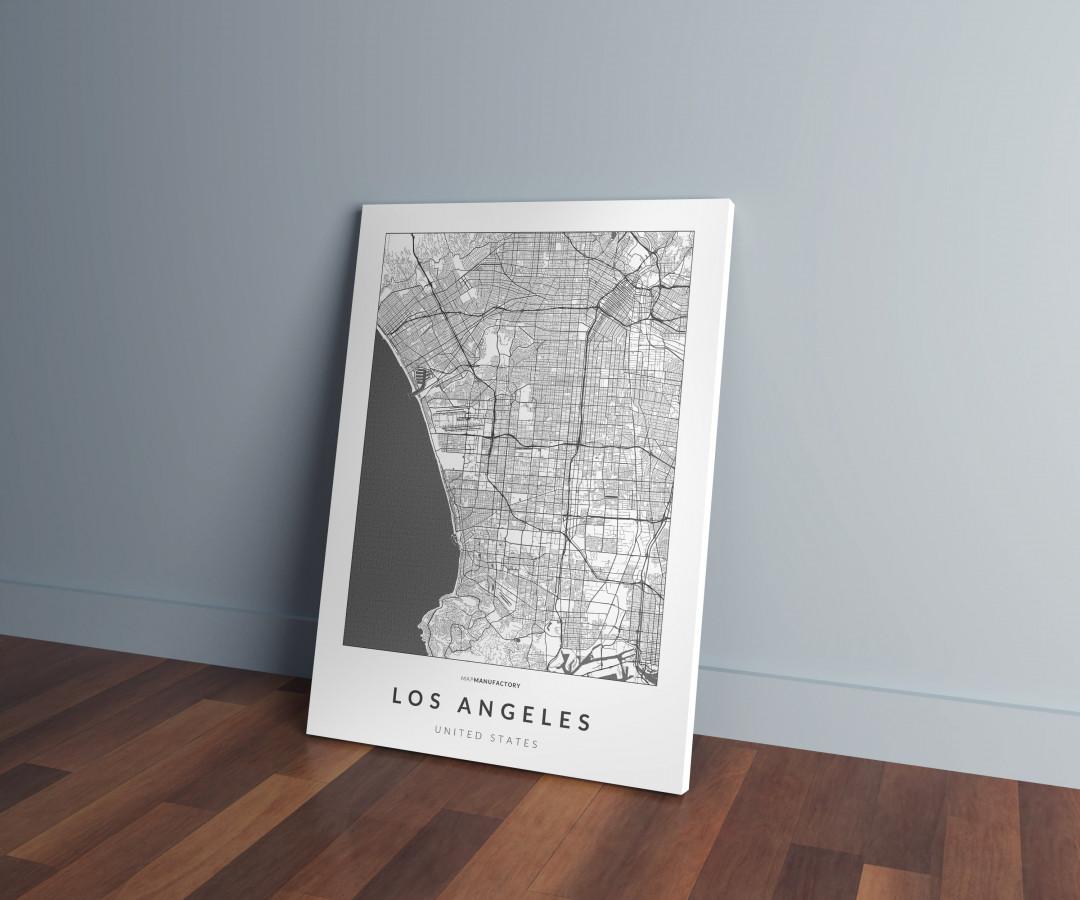 Los Angeles úthálózata vászonképen - világos