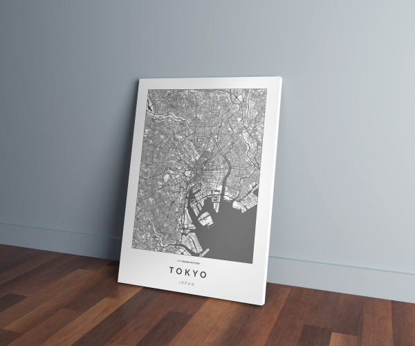 Tokió úthálózata vászonképen - világos