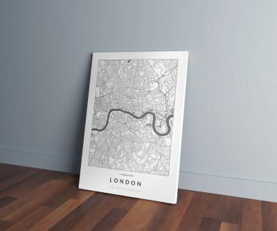 London úthálózata vászonképen - világos