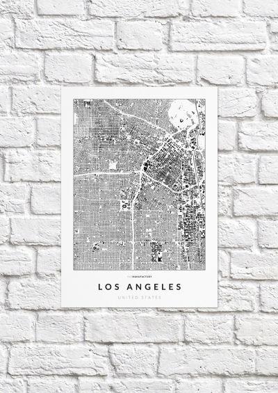 Los Angeles épületei poszteren - világos-1