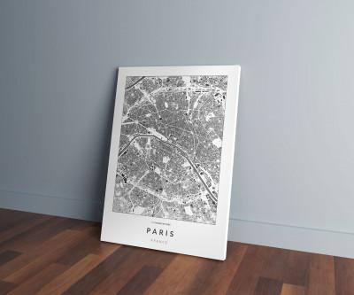 Párizs épületei vászonképen - világos-0