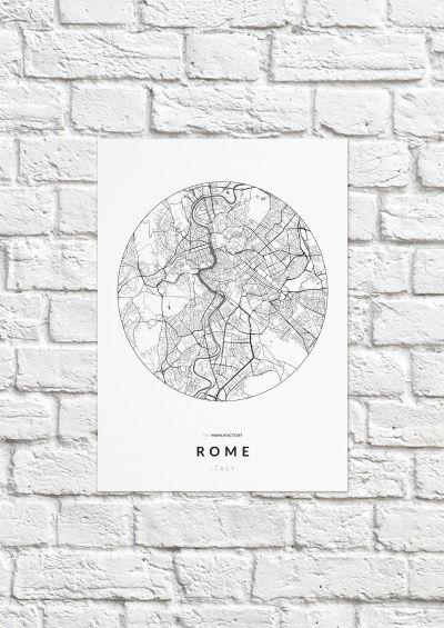 Róma úthálózata körben poszteren - világos-1